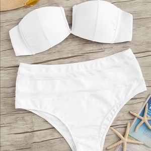 High Waisted, Bandeau Bikini
